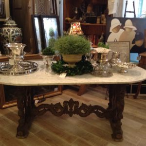 FMF Compagnie - antique French Carrera Marble table